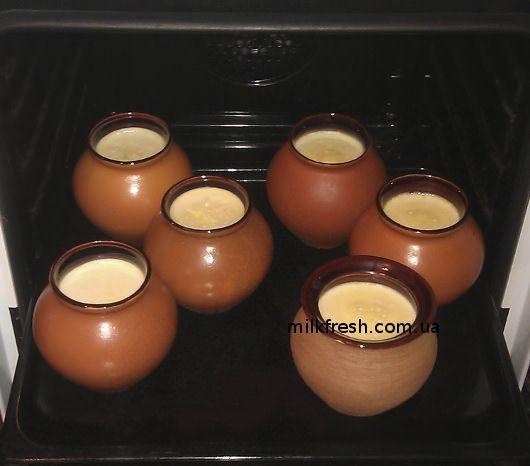 готовый мацун, мацун в горшочке, приготовление мацони