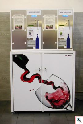 автомат для вина, торговый автомат, продажа соков через автомат